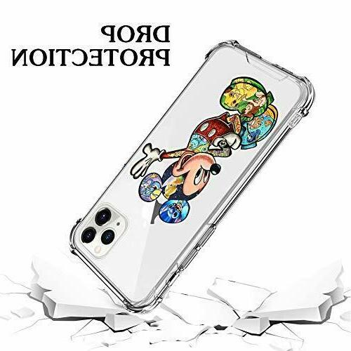 iPhone 11 Pro Case PC Flexible TPU Crystal Colorful