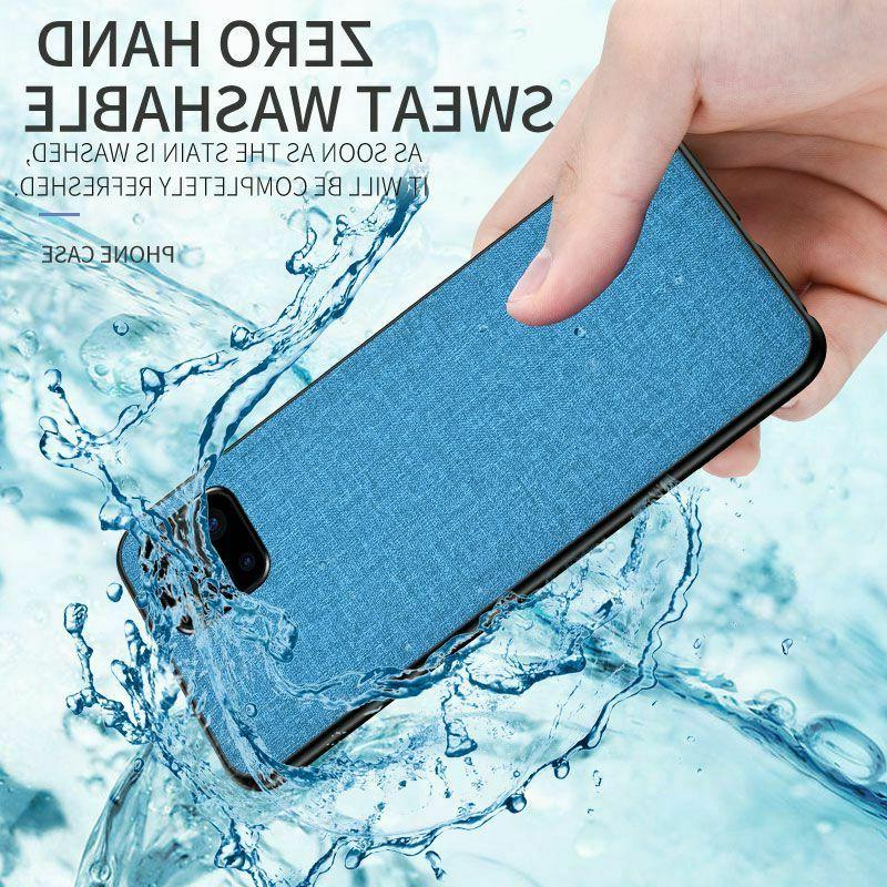 For Max Luxury Fabric Cloth Leather Case