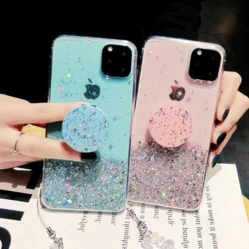For iPhone Pro Max XR 7 8 Slim Case With Holder Cases Socket