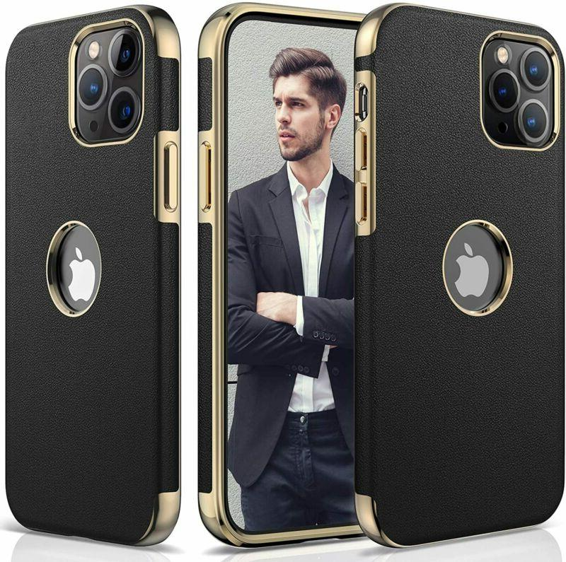 iphone 12 pro max leather case
