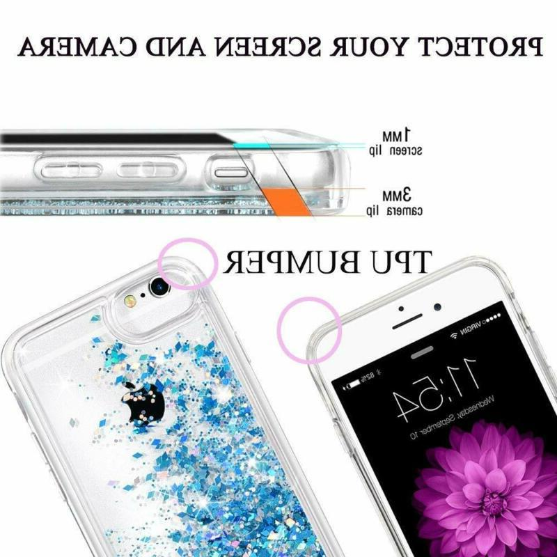 Iphone 8 Iphone 6S Glitter Tempered Glass Screen Pro