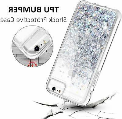 For 6S 7 8 For iPhone Glitter with Tempered Screen