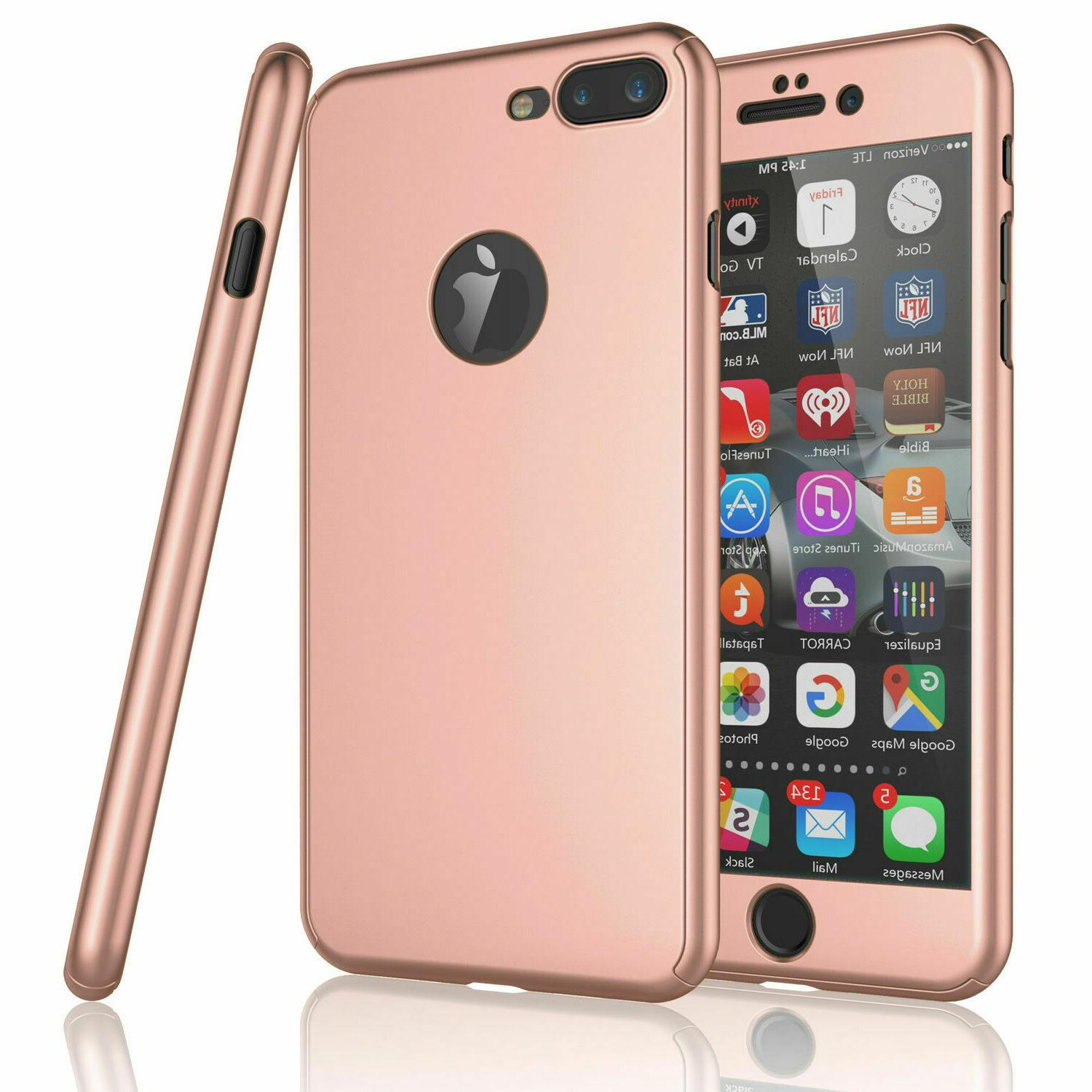 For iPhone 8 6S 7 SE XS Ultra Slim Hard Case Glass