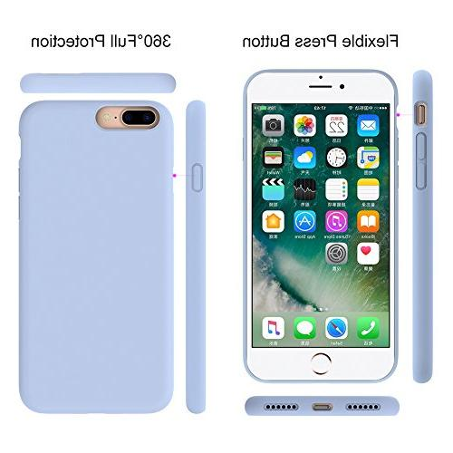 Miracase iPhone 8 Plus Silicone 7 Plus Case Gel Rubber Full Body Shockproof Case Protection Apple 7 Plus/iPhone Purple