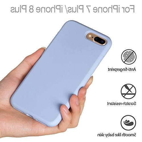 Miracase Silicone Case, iPhone Plus Silicone Shockproof Case Drop Protection for Apple Purple