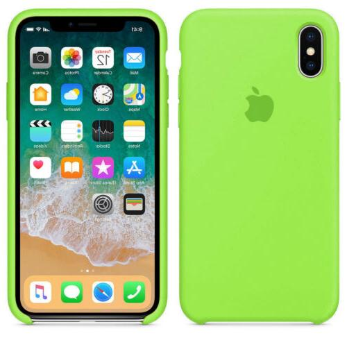 For iPhone XR XS Max 8Plus Silicone Genuine Luxury Case