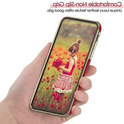 LOHASIC for iPhone XR 6.1 Case Slim Luxury Soft Grip Red