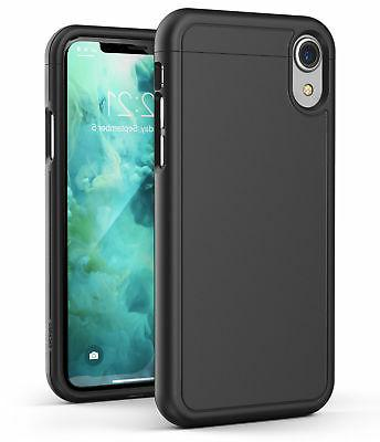 iPhone XR Slim Case Ultra Thin Protective Grip Cover  -Black