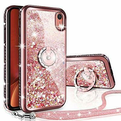 iphone xr case moving liquid holographic sparkle