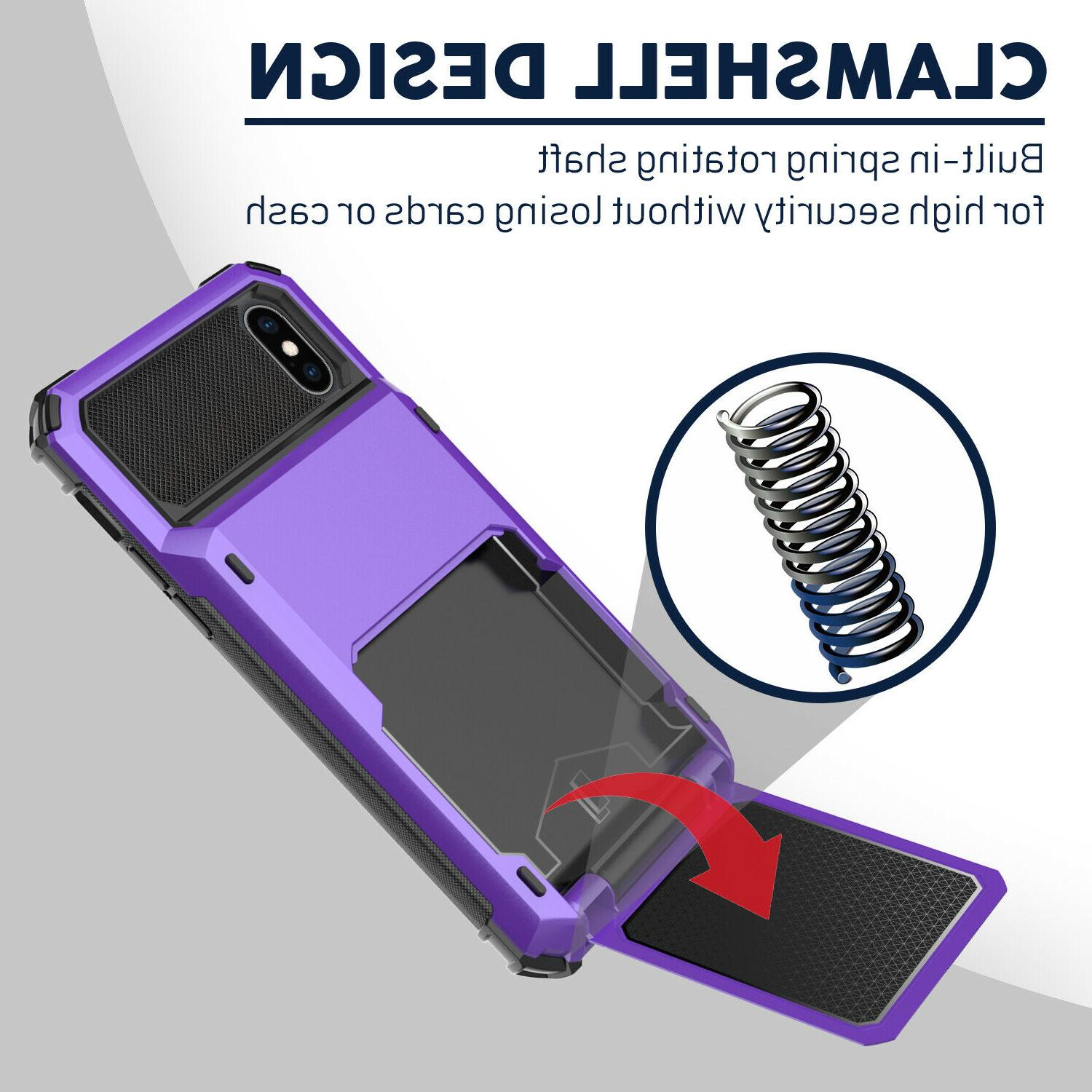 For XS XR Hybrid Heavy Duty Case Cover With