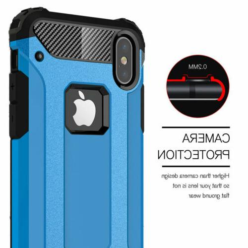 Shockproof Silicone Hard Case For Apple iPhone X 6s 6 SE