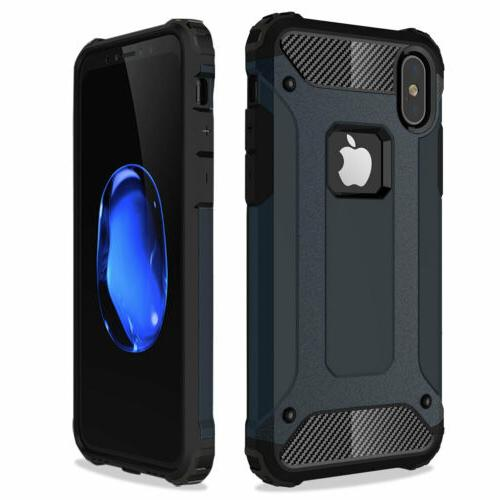 Shockproof Hybrid Silicone Case Cover iPhone X 7 6s 6 SE