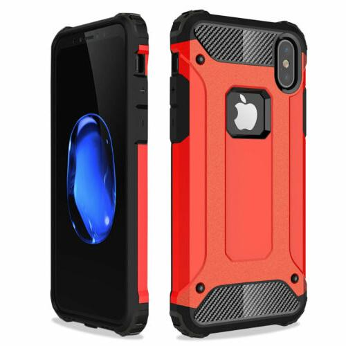 Shockproof Hybrid Silicone Case Cover For iPhone X 6s Plus SE