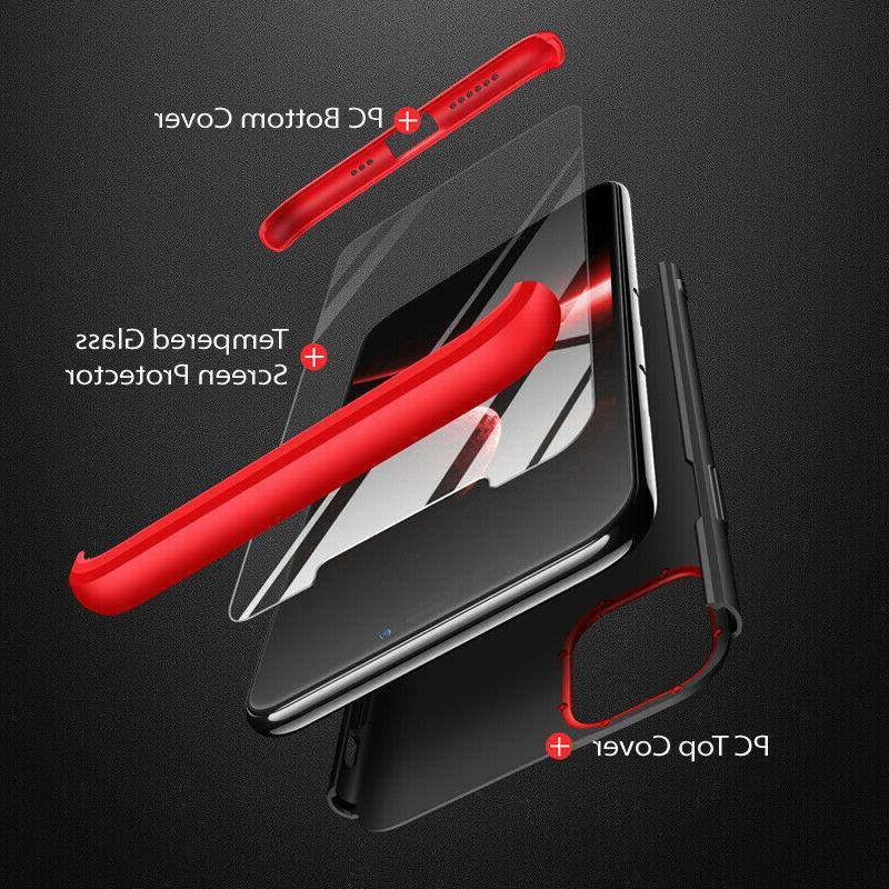 Slim Hybrid Hard Thin Cover Tempered Glass for iPhone Pro Max