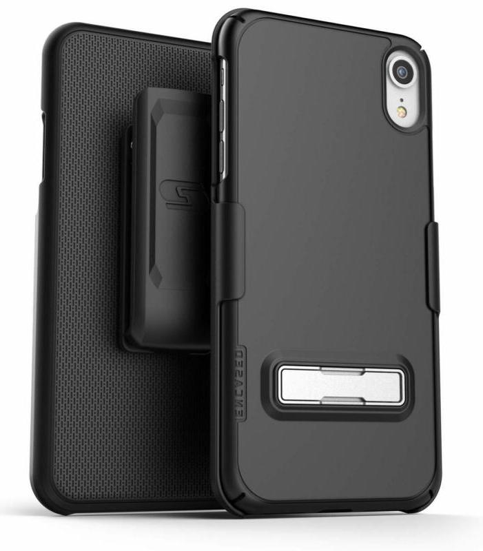 Encased  Iphone Xr Belt Clip Case With Kickstand  Thin Fit S