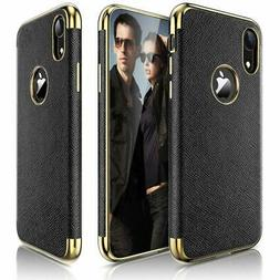 LOHASIC Leather Case for iPhone XR Luxury Slim Fit Flexible