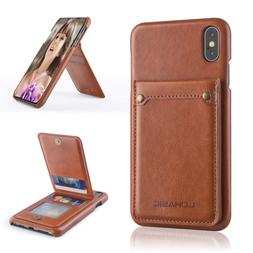 LOHASIC iPhone Xs Max Wallet Case with 4 Card Slots, Premium