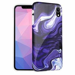 Caka Marble Case Compatible for iPhone XR, Slim Anti-Scratch