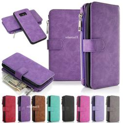 Samsung Galaxy S8/S8 Plus Leather Removable Wallet Magnetic