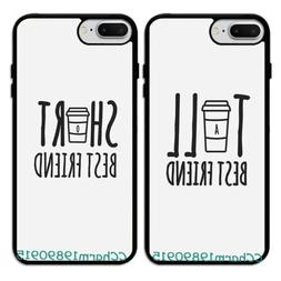 Tall and Short BFF Best Friend Rubber Phone Case Cover For i